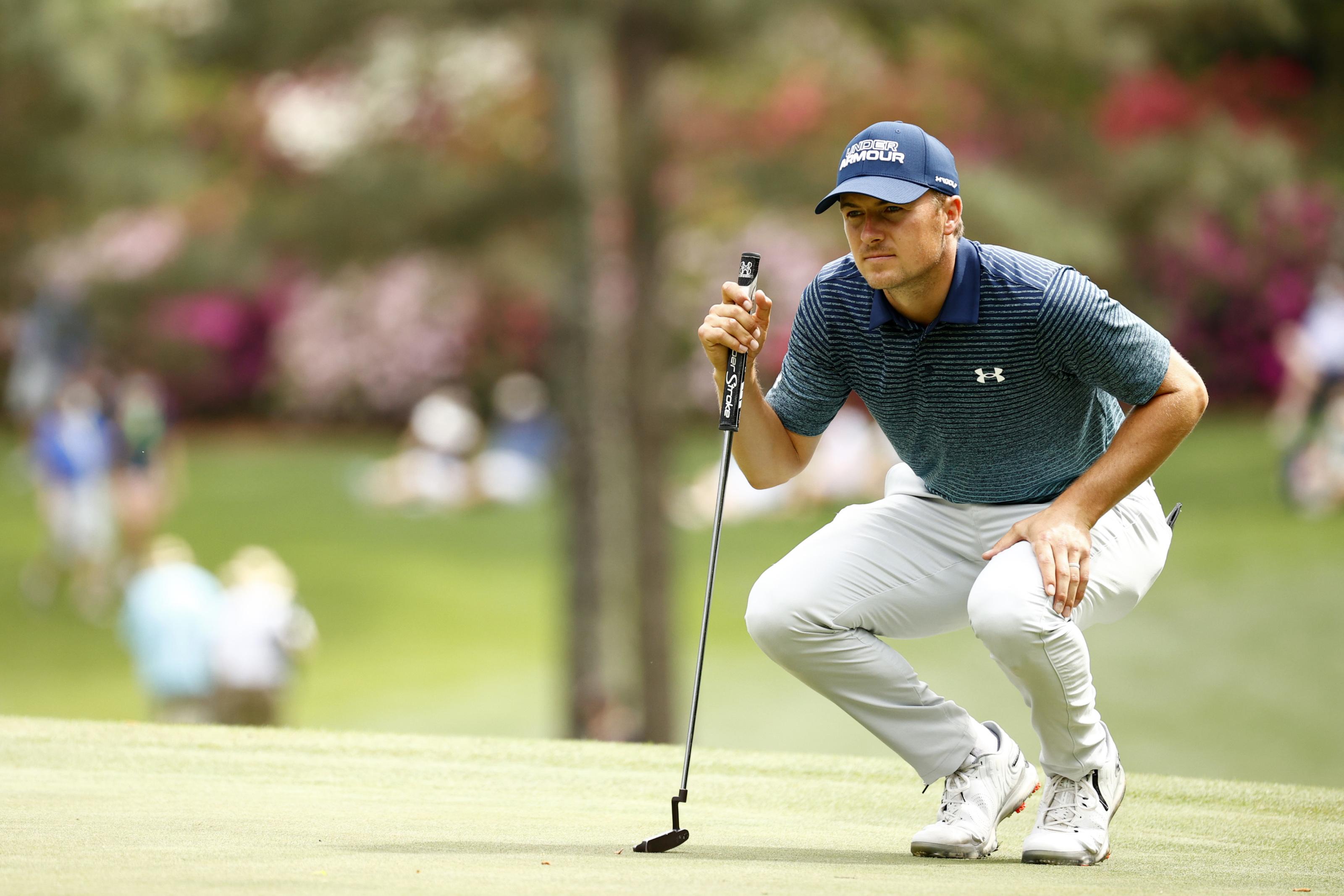 2021 Masters: Jordan Spieth scrambles to save round